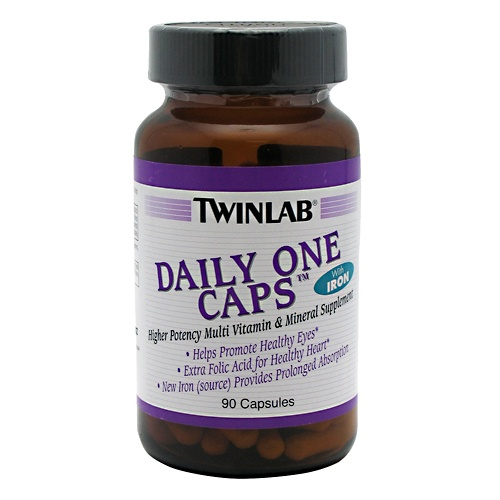 Twinlab DAILY ONE CAPS WITH IRON, 90 Capsules