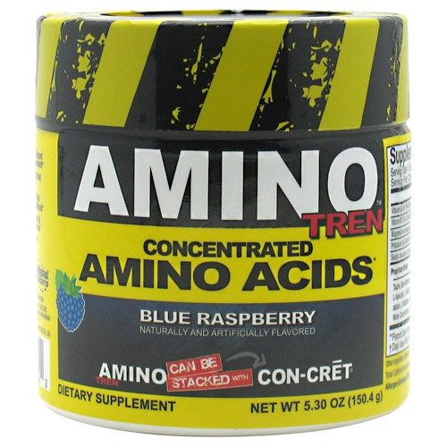 Amino Tren, 32 Servings, Blue Raspberry Flavor 682676772322