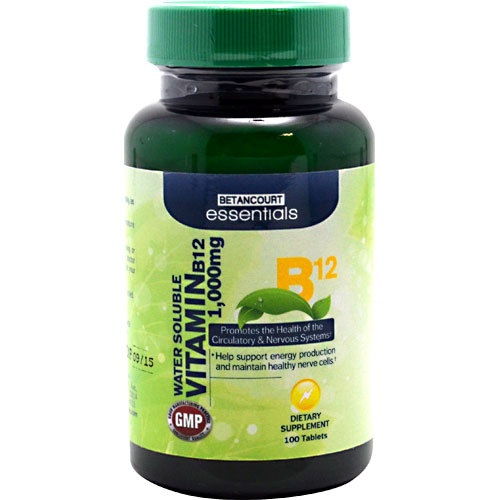 Betancourt Essentials Vitamin B12, 100 Tablets