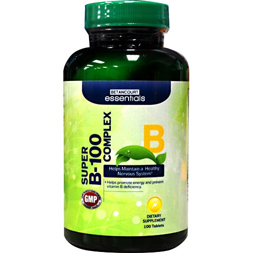 Betancourt Essentials Super B-100 Complex, 100 Tablets