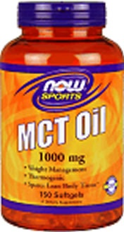 NOW Foods MCT Oil 1000 mg, 150 Softgels