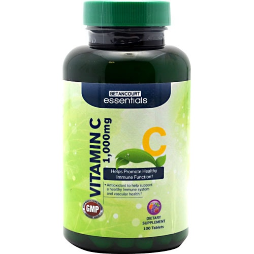 Betancourt Essentials Vitamin C, 100 Tablets