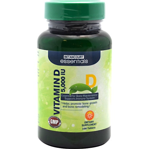 Betancourt Essentials Vitamin D 5,000 IU, 100 Tablets