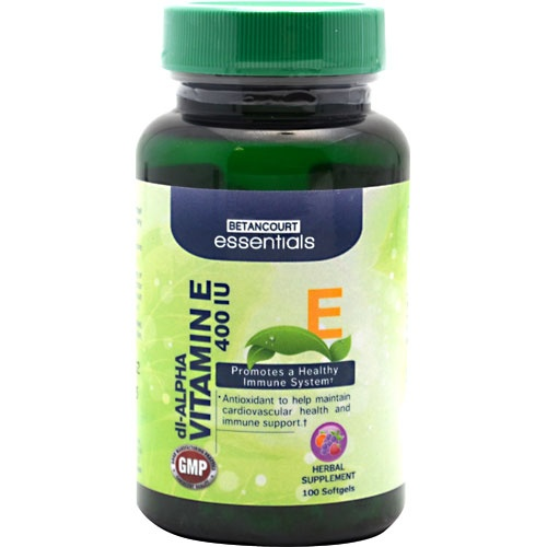 Betancourt Essentials Vitamin E, 100 Softgels