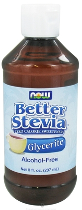 NOW Foods BetterStevia Glycerite, 8 Fluid Ounces