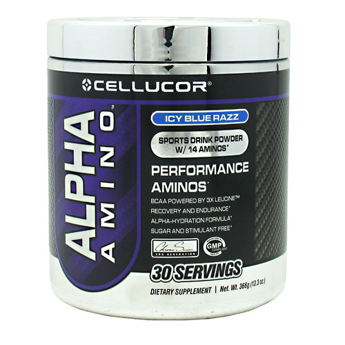 Alpha Amino, 30 Servings, Icy Blue Razz Flavor 810390024254, 810390021390