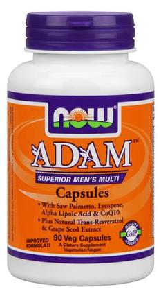 NOW Foods ADAM Superior Men's Multiple Vitamin, 90 Vegi Capsules