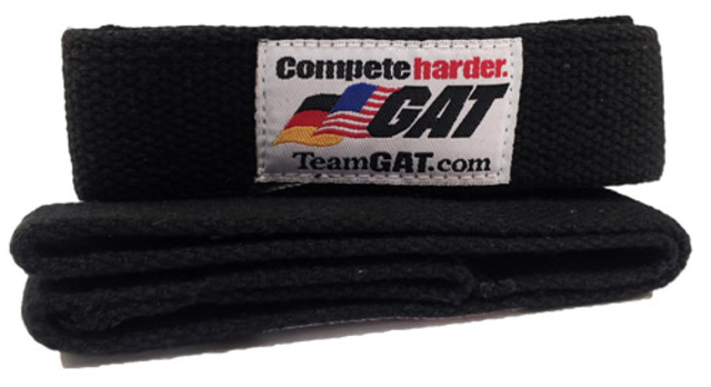 G A T GAT Lifting Straps, Black Color
