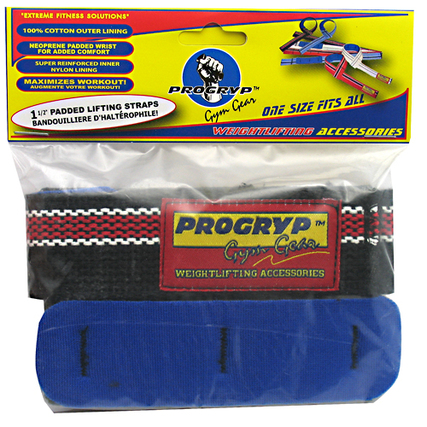 Progryp Cotton Padded Lifting Straps , Black Color