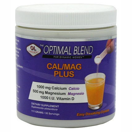 Olympian Labs Optimal Blend Calcium/Magnesium Plus, 30 Servings