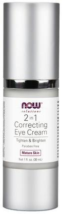 NOW Foods 2 in 1 Correcting Eye Cream, 1 Fluid Ounce