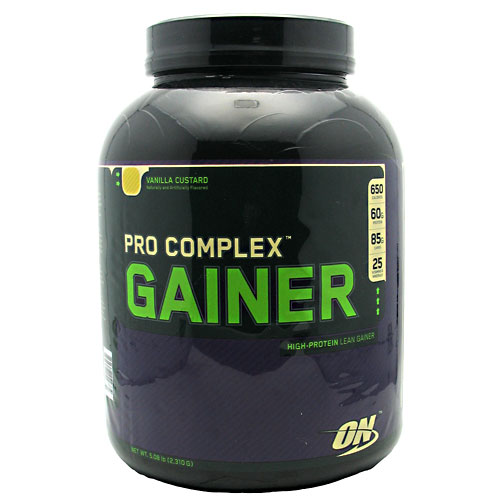 PRO COMPLEX GAINER, 5 Pounds, Vanilla Custard Flavor 748927029734