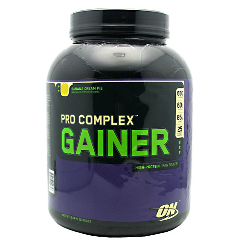 PRO COMPLEX GAINER, 5 Pounds, Banana Cream Pie Flavor 748927029758