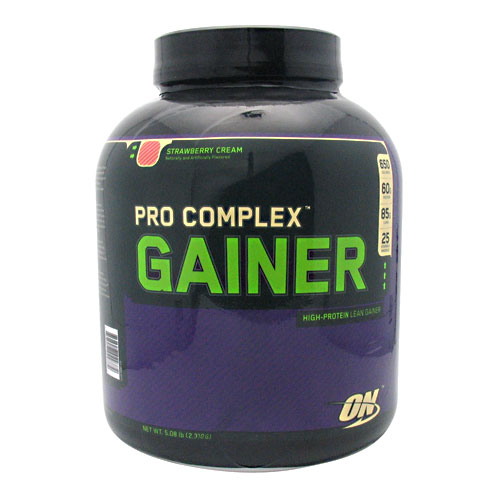 PRO COMPLEX GAINER, 5 Pounds, Strawberry Cream Flavor 748927029772