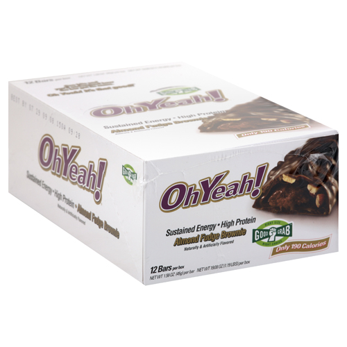 Oh Yeah Bars 1.59 oz. per bar, 12 Bars, Almond Fudge Brownie Flavor 788434114288