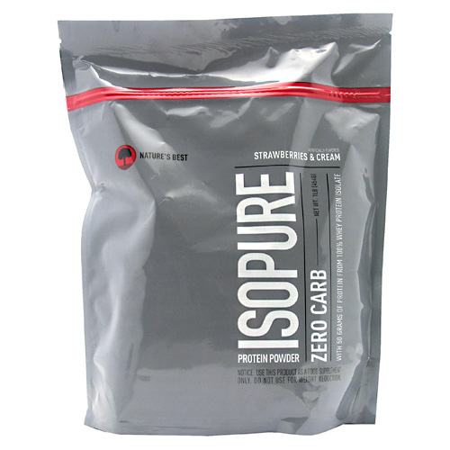 Zero Carb Isopure , 1 Pound, Strawberries & Cream Flavor 089094022495