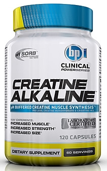 BPI Sports Creatine Alkaline, 120 Capsules