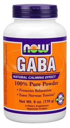NOW Foods GABA Powder, 6 Ounces