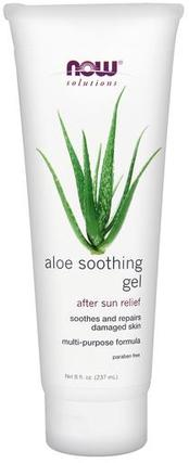 NOW Foods Aloe Soothing Gel, 8 Ounces