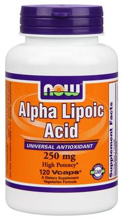 NOW Foods Alpha Lipoic Acid 250 mg. per capsule