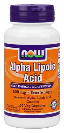 NOW Foods Alpha Lipoic Acid 600 mg. per capsule, 60 Vegi Capsules