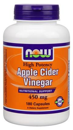 NOW Foods Apple Cider Vinegar 450 mg. per capsule, 180 Capsules