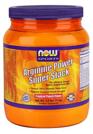 NOW Foods Arginine Power Super Stack, 2.2 Pounds