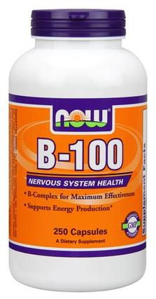 NOW Foods B-100 Caps, 250 Capsules