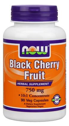 NOW Foods Black Cherry Fruit Extract 750 mg. per capsule, 90 Vegi Capsules