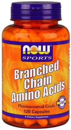 NOW Foods Branched Chain Amino Acids, 120 Capsules