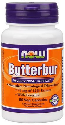 NOW Foods Butterbur, 60 Vegi Capsules