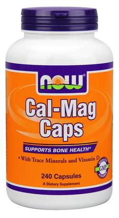NOW Foods Cal-Mag Caps, 240 Capsules