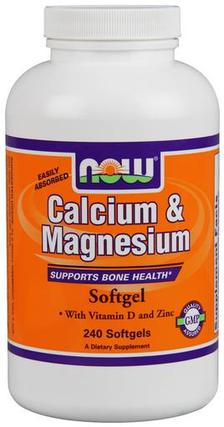 NOW Foods Calcium & Magnesium, 240 Softgels