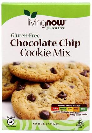 NOW Foods Chocolate Chip Cookie Mix, 17 Ounces