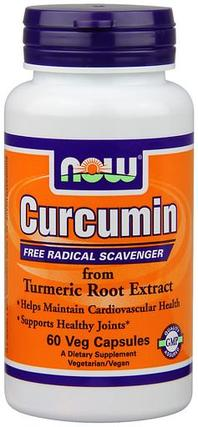 NOW Foods Curcumin Turmeric Root Extract 665 mg., 60 Vegi Capsules