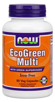 NOW Foods Eco-Green Multi Vitamin, 90 Capsules