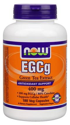 NOW Foods EGCG 400mg Green Tea Extract, 180 Vegi Capsules