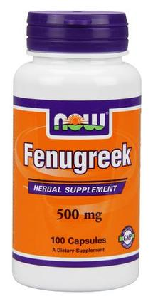 NOW Foods Fenugreek 500 mg., 100 Capsules