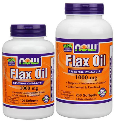 Flax Oil 1000 mg. per gel