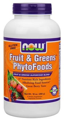 NOW Foods Fruit & Greens PhytoFoods, 10 Ounces