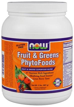 NOW Foods Fruit & Greens PhytoFoods, 2 Pounds