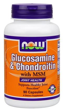 NOW Foods Glucosamine & Chondroitin with MSM, 90 Capsules