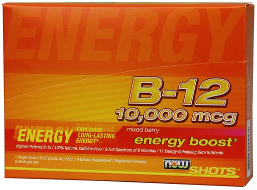 NOW Foods B-12 10,000 mcg Shots, 8 Shots