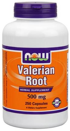 NOW Foods Valerian Root 500 mg, 250 Capsules