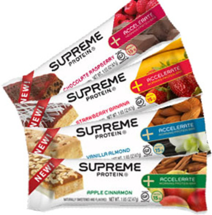 Supreme Protein Inc Accelerate Morning Protein Bars, 12 Bars