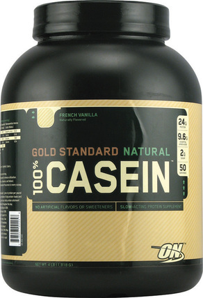 Optimum Nutrition Gold Standard Natural 100% Casein, 4 Pounds