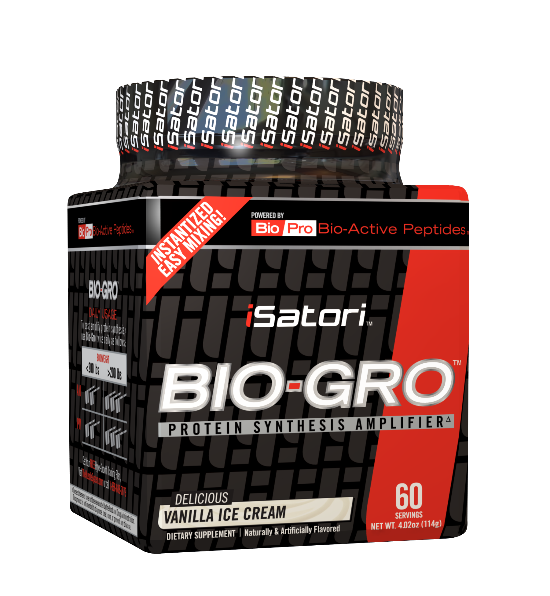 Bio-Gro, 60 Powder Servings, Snickerdoodle Flavor 883488003318