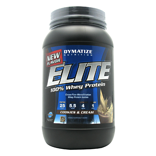 Elite Whey Protein, 2 Pounds, Cookies & Cream Flavor 705016599226
