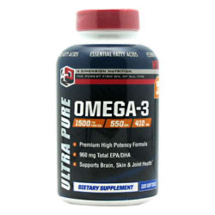 4 Dimension Nutrition Ultra Pure Omega-3, 100 Softgels
