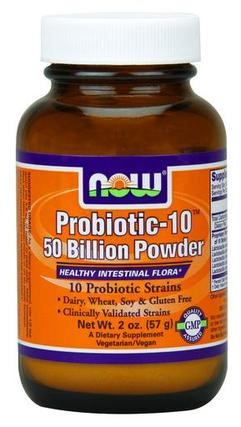 NOW Foods Probiotic-10™ 50 Billion Powder, 2 Ounces